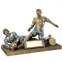 MALE FOOTBALL FIGURE AND GOALKEEPER